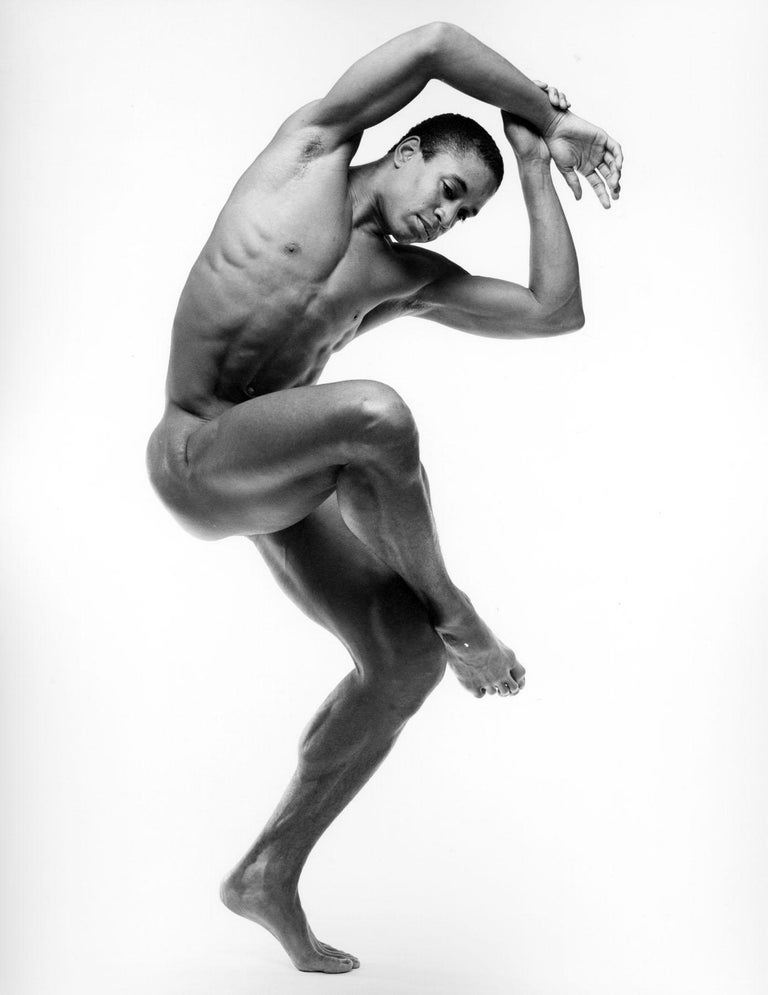 Jack Mitchell Black and White Photograph - Alvin Ailey dancer Keith McDaniel, nude, signed by Mitchell