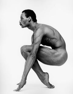 Alvin Ailey dancer Kevin Brown, nude, signed by Jack Mitchell