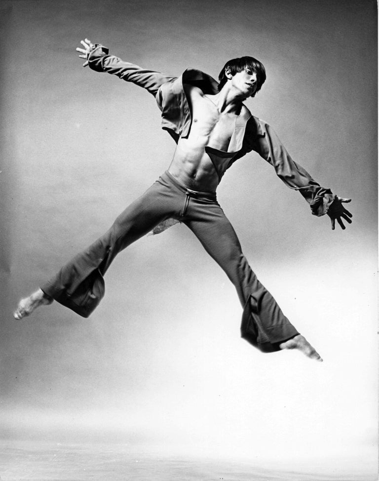 Jack Mitchell Black and White Photograph - Alvin Ailey dancer Miguel Godreau performing Prodigal Prince'