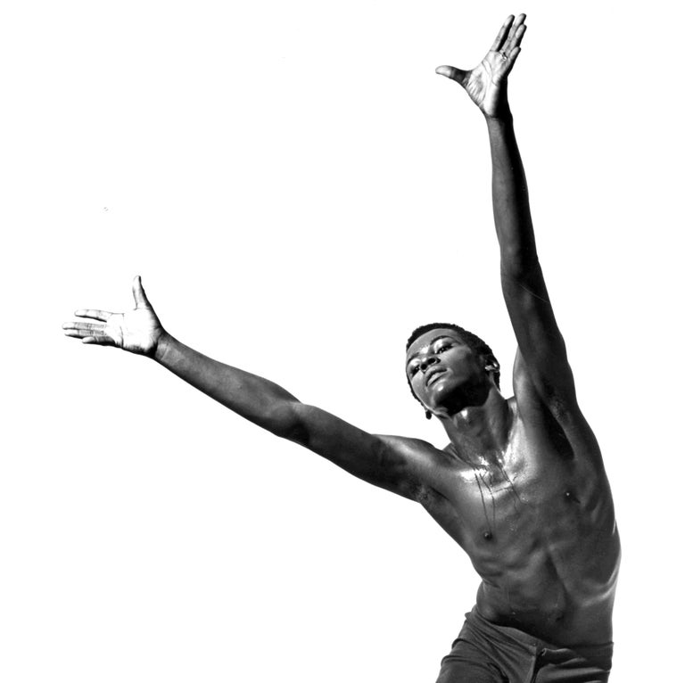 Alvin Ailey dancer William Louther performing 'Revelations' - Photograph by Jack Mitchell
