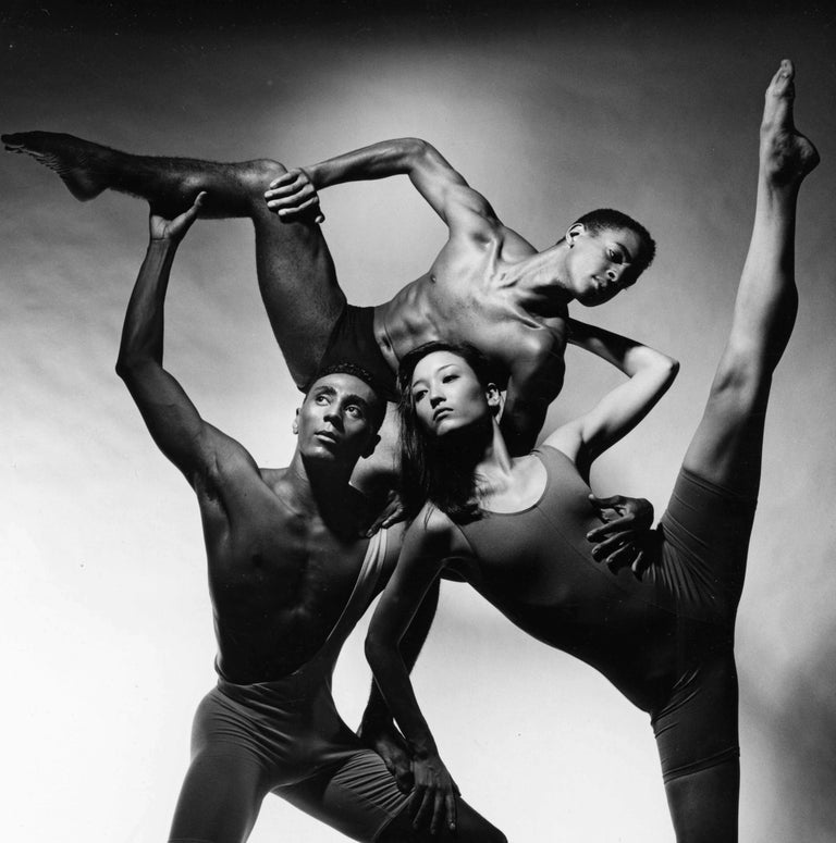 Alvin Ailey dancers Andre Tyson, Dana Hash & Aubrey Lynch II - Photograph by Jack Mitchell