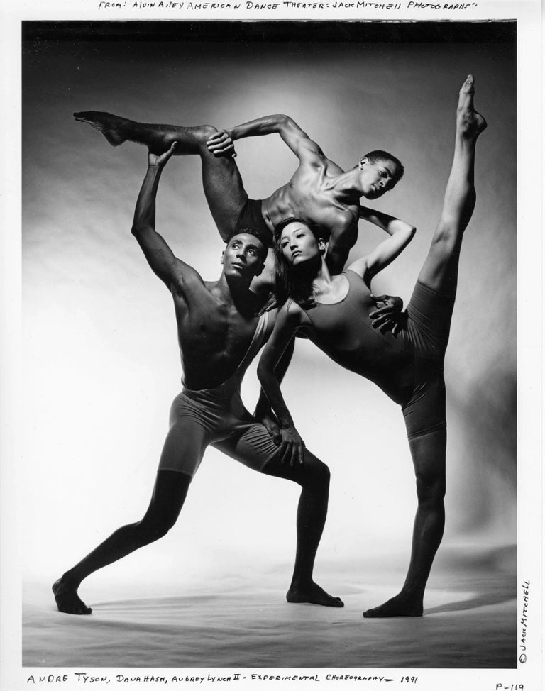 Jack Mitchell Black and White Photograph - Alvin Ailey dancers Andre Tyson, Dana Hash & Aubrey Lynch II