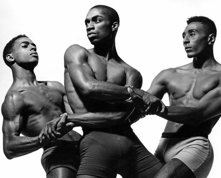 Alvin Ailey dancers Aubrey Lynch II, Desmond Richardson & Andre Tyson - Photograph by Jack Mitchell