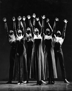 "Alvin Ailey dancers performing ""Revelations"" Iconic Image of Ailey's Masterpiece"