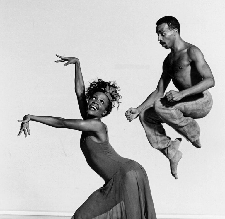 Alvin Ailey dancers Renee Robinson & Carl Bailey in 'Rainbow Round My Shoulder'  - Photograph by Jack Mitchell