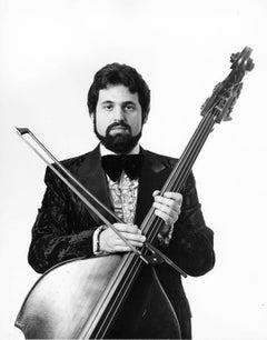 American classical bass virtuoso Gary Karr, photographed for After Dark magazine