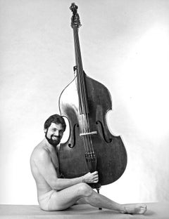 American classical bass virtuoso Gary Karr, photographed nude for After Dark