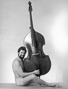 American classical double bass virtuoso Gary Karr nude, signed by Jack Mitchell