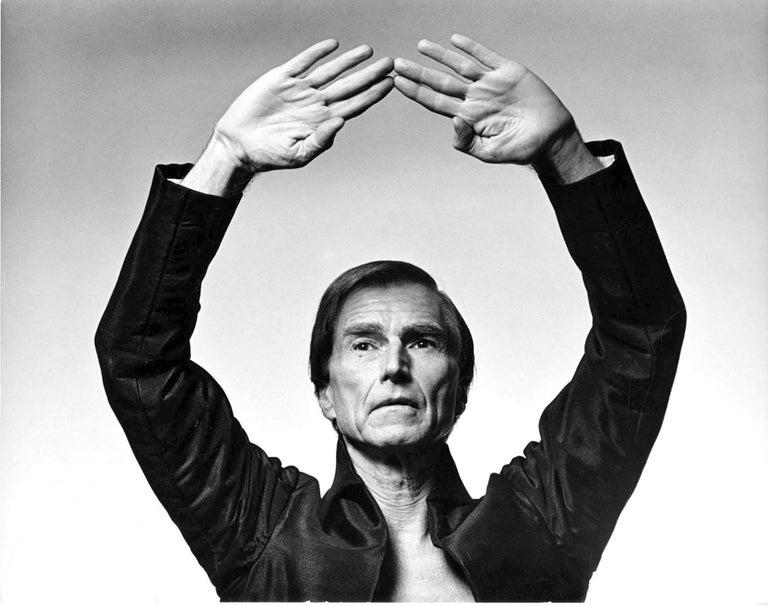 Jack Mitchell Black and White Photograph - American modern-dance choreographer Erick Hawkins