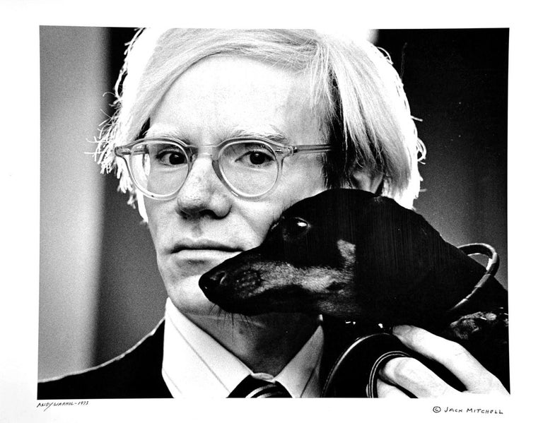 Jack Mitchell Portrait Photograph - Andy Warhol and Archie