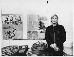 Andy Warhol at his Factory at 33 Union Square, LAST ONE signed by Jack Mitchell