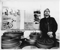 Andy Warhol at his Factory at 33 Union Square West in New York City