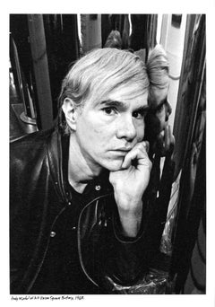 Andy Warhol at his Union Square Factory Estate Edition Jack Mitchell Photograph
