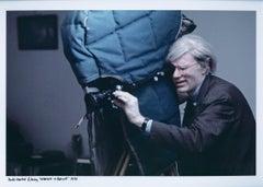 "Andy Warhol filming ""Women in Revolt"""