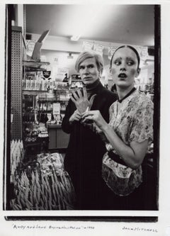 Andy Warhol & Jane Forth Buying Cosmetics in a New York City Drug Store