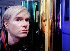 Andy Warhol photographed in his Union Square Factory
