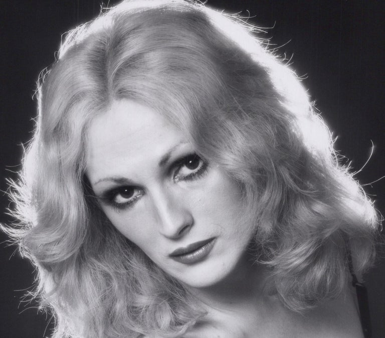Andy Warhol Superstar Candy Darling Studio Portrait - Photograph by Jack Mitchell