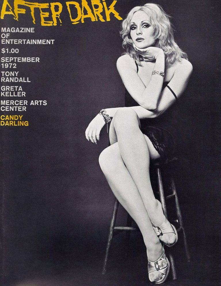 Andy Warhol Superstar Candy Darling Studio Portrait - Black Black and White Photograph by Jack Mitchell