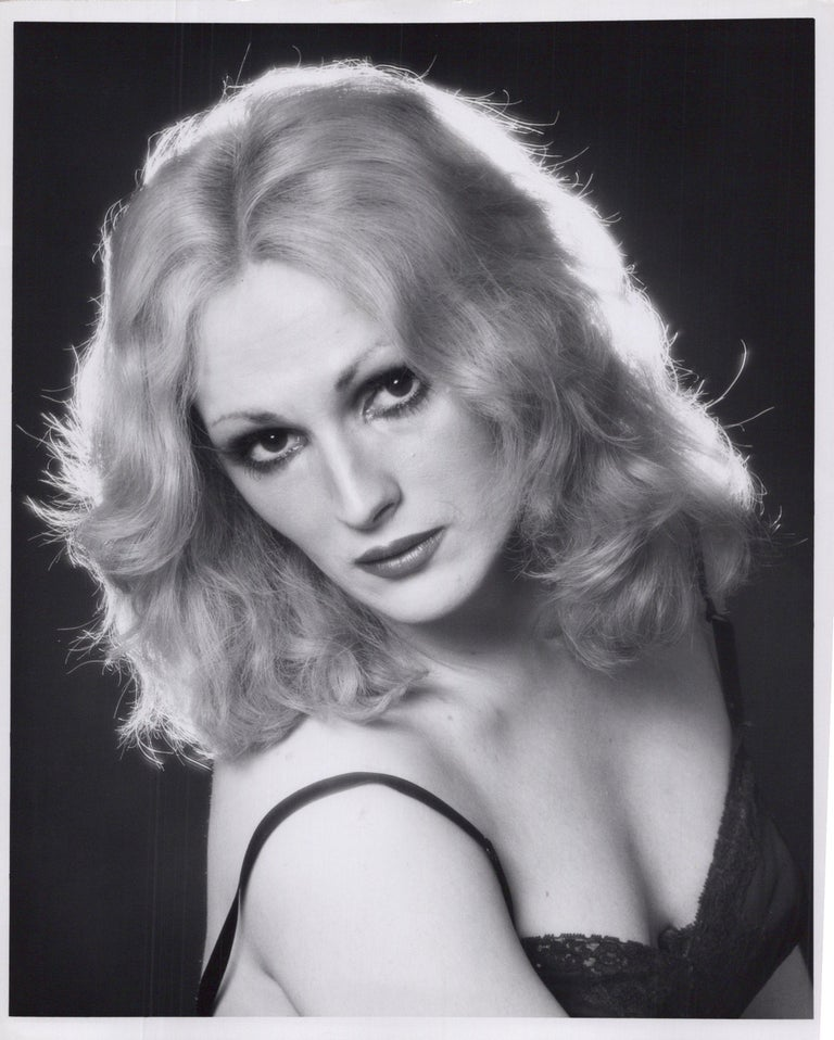 Jack Mitchell Black and White Photograph - Andy Warhol Superstar Candy Darling Studio Portrait