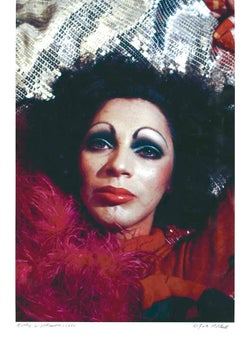 Andy Warhol Superstar Holly Woodlawn, signed by Jack Mitchell