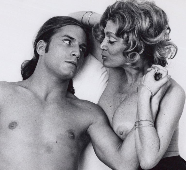 Andy Warhol superstars Joe Dallesandro and Sylvia Miles in 'Heat' - Photograph by Jack Mitchell