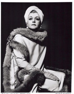 Angela Lansbury in full costume for her starring role on Broadway as 'Mame'