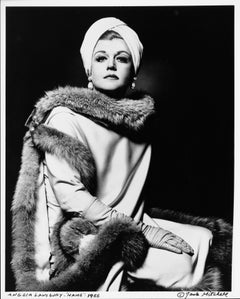 Angela Lansbury starring as 'Mame' on Broadway, signed by Jack Mitchell