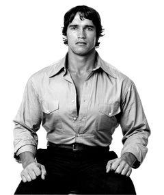 Arnold Schwarzenegger, studio portrait, Signed by Jack Mitchell