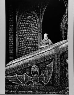 Artist and Writer Edward Gorey on the Broadway set he designed for 'Dracula'