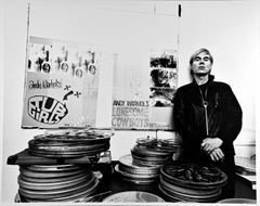 Artist Andy Warhol at his Union Square Factory