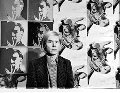 Artist Andy Warhol at his Whitney Museum Retrospective