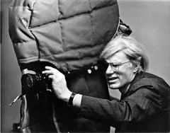 "Artist Andy Warhol filming ""Women in Revolt"""