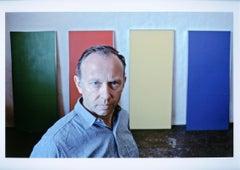 Artist Ellsworth Kelly in his Manhattan studio with new work