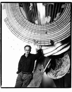 Artist Frank Stella in his studio