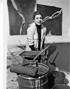 Artist Helen Frankenthaler, signed by Jack Mitchell