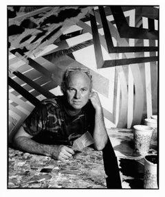 Artist James Rosenquist in his studio