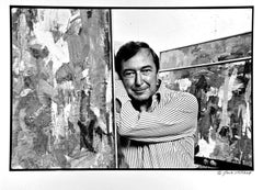 Artist Jasper Johns in his New York Studio, signed by Jack Mitchell