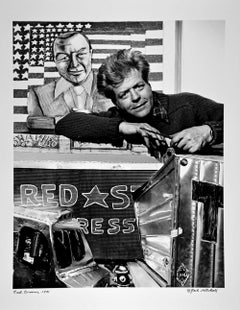 Artist Red Grooms in his New York Studio, signed by Jack Mitchell