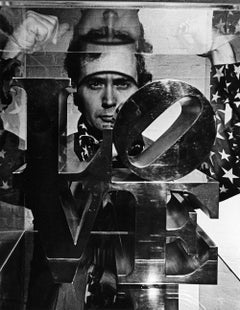 Artist Robert Indiana, signed By Jack Mitchell