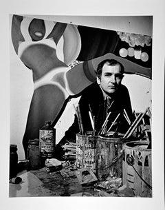 Artist Tom Wesselmann in his New York City studio