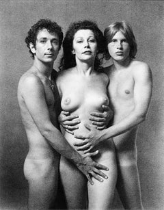 Artist/Warhol Superstar Ultra Violet and friends Jason McCoy and Ron Caran