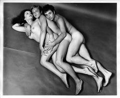 Artist & Warhol Superstar Ultra Violet nude with friends for After Dark Magazine