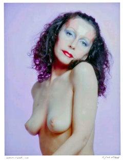 Artist/Warhol Superstar Ultra Violet, signed by Jack Mitchell
