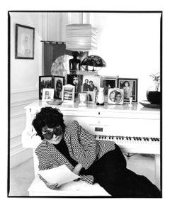 Artist & Writer Yoko Ono in her Manhattan apartment, signed by Jack Mitchell
