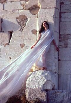 """Bejart Ballet Dancer Marcia Haydee in Greece, 17 x 22"""" Exhibition Photograph"""