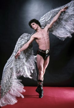 Bejart Ballet dancer Yann LeGac as the Angel Motorcylist signed by Jack Mitchell