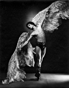 Bejart dancer Yann Le Gac as the Angel Motorcyclist, signed by Jack Mitchell