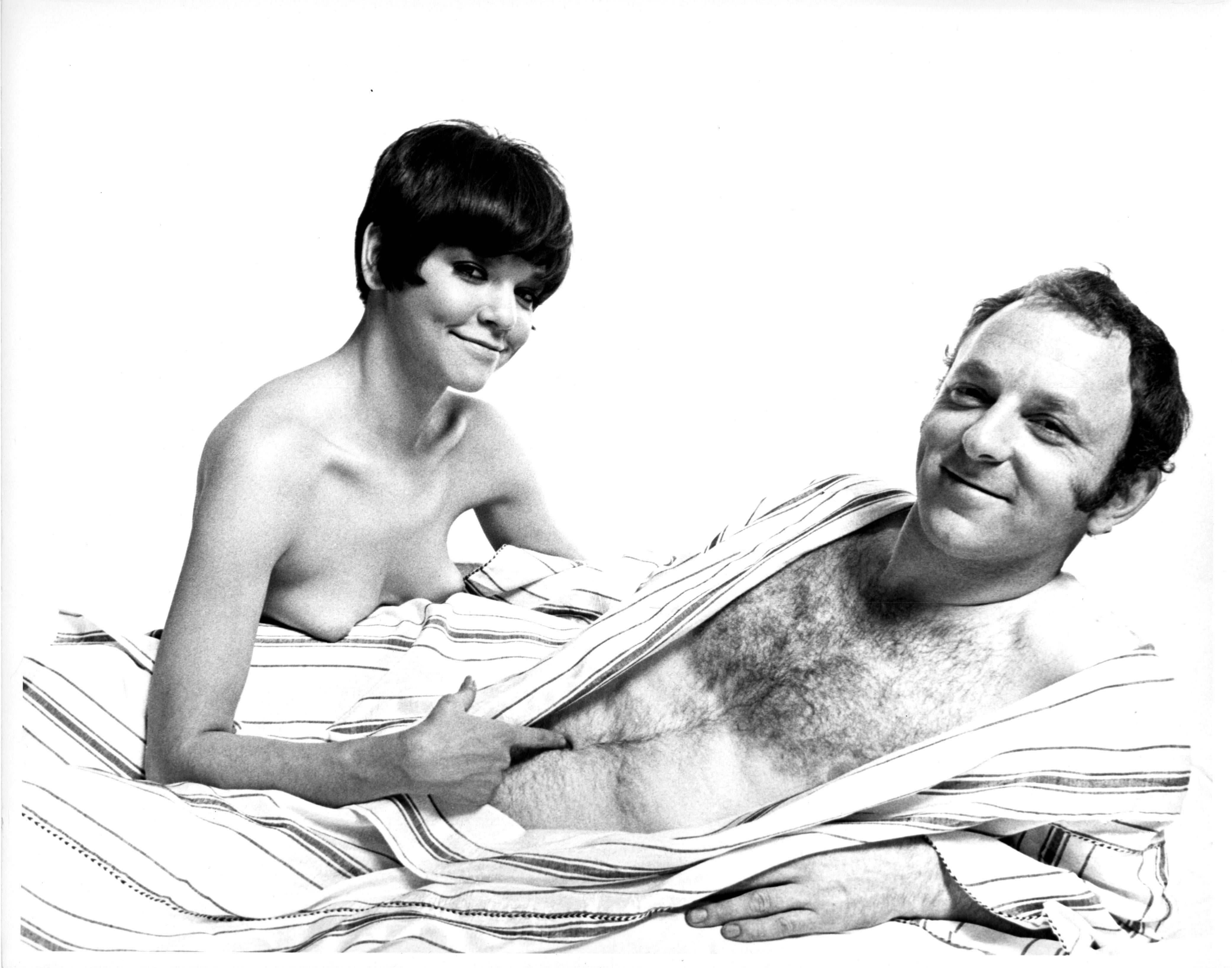 British Pop Artist Gerald Laing and wife photographed nude