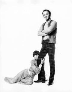 British Pop Artist Gerald Laing & his wife Galina pose for wedding photos signed
