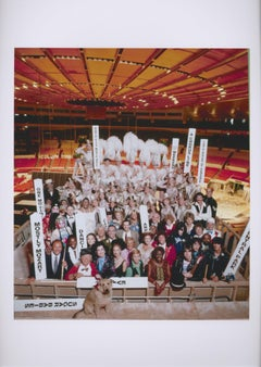 Broadway show stars in an unusual group portrait in Madison Square Garden